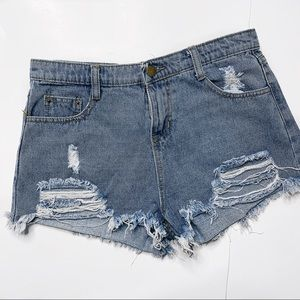 Love culture | high waisted distressed shorts